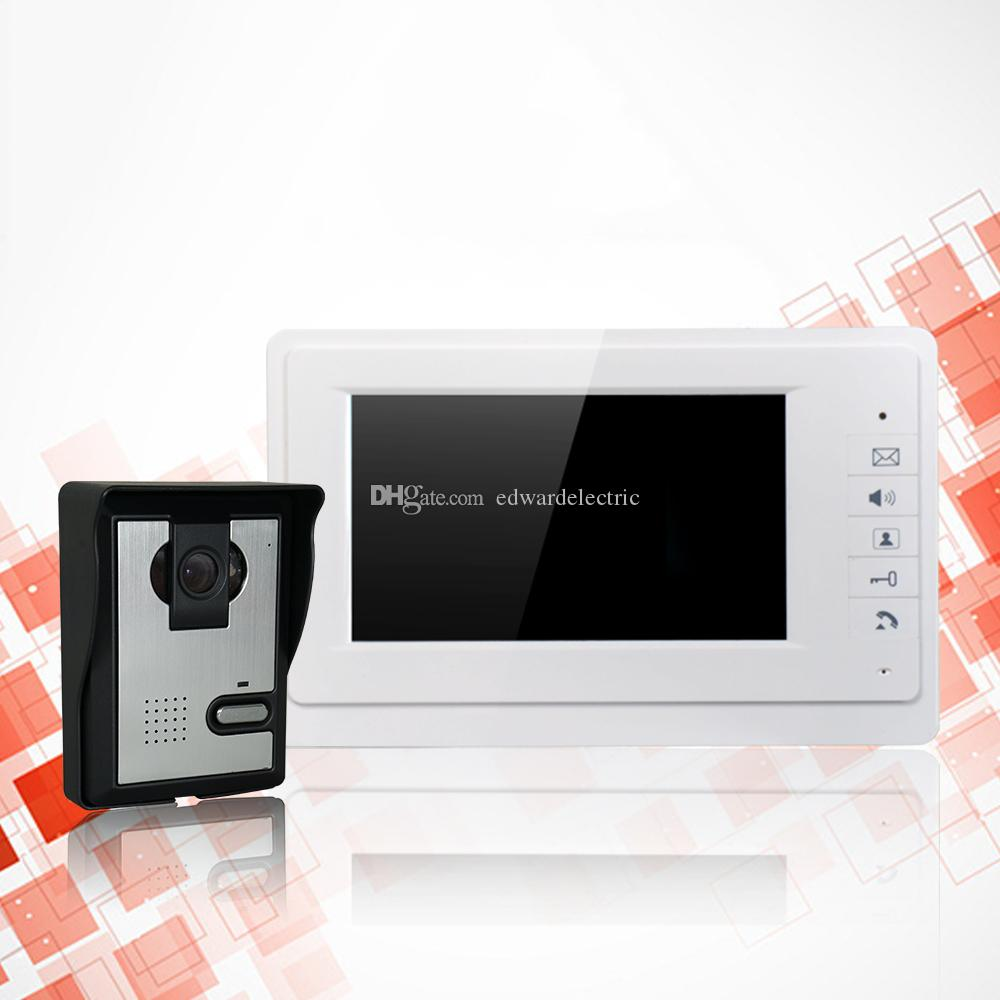 White Color Door Access Control 7 Lcd Display Video