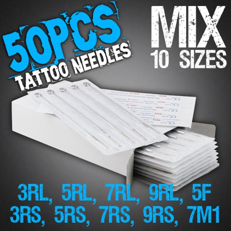 2019 SALE !!Disposable Tattoo Needles Mix Needles /Box 10 Sizes 3RL ...