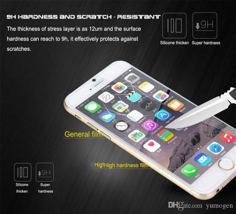 2.5D Premium Tempered Glass Manufacturer Price Screen Protector for iphone 6 6s 7 Plus 5S 5 4S Samsung S7 S6 edge s5 s8 huawei p9 5x