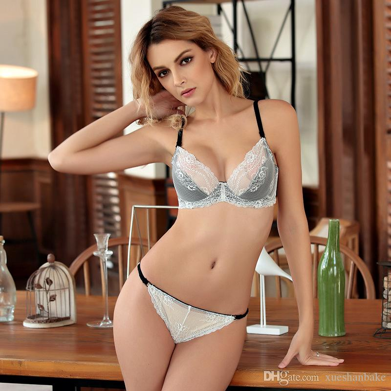 e67149ba50 2019 MOXIAN Sexy Lace Bra Suit Bras Ultra Thin Transparent Temptation Thin  Section Manufacturers Wholesale Women Bra Set 32 38size B C D Cup 2015 From  ...
