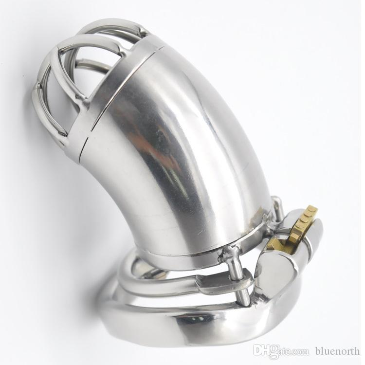 Latest male chastity device designs new-steel chastity belt for men chastity devices cock cage with removable spike ring