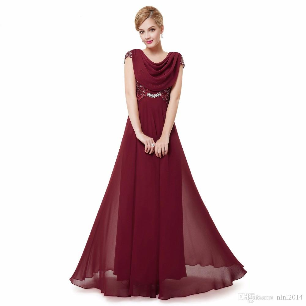 purple evening long dresses special occasion 2017 double cowl neck