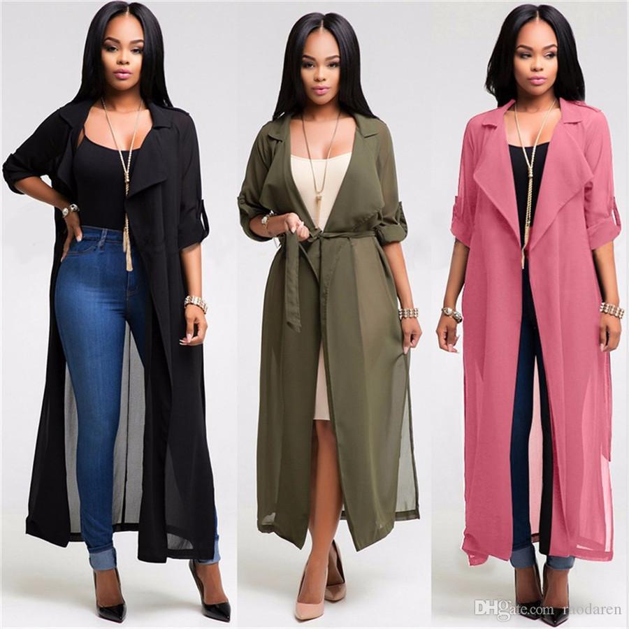 Raodaren Outono Blusas Mulheres Blusas Alongadas Retro Meia Manga Casula Solto Longo Cardigan Camisa 2017 Verão Blocos de Sol Mais tamanho