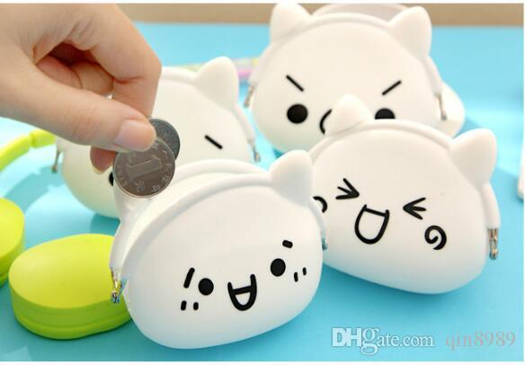 Borsellino portamonete in silicone Lovely Kawaii Cartoon Borse da donna Portafogli Jelly Purses Kid Christmas Gift