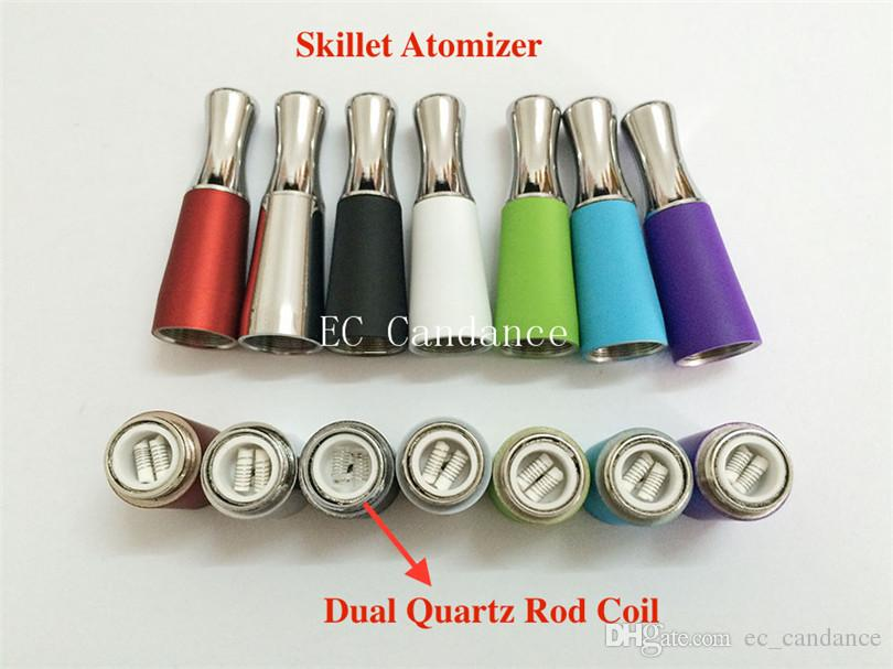 EGO-D Skillet Atomizer Wax Quartz Coil Vaporizer Skillet Vaporizer Dual ceramic Coil for EGO D Series Ego-T EVOD Electronic Cigarette