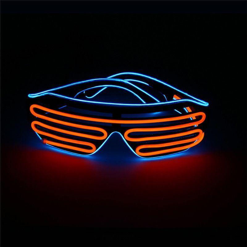 EL Wire Light LED Glasses Bright Light Party Glasses Club Bar Performance Glow Party DJ Dance Eyeglasses M937