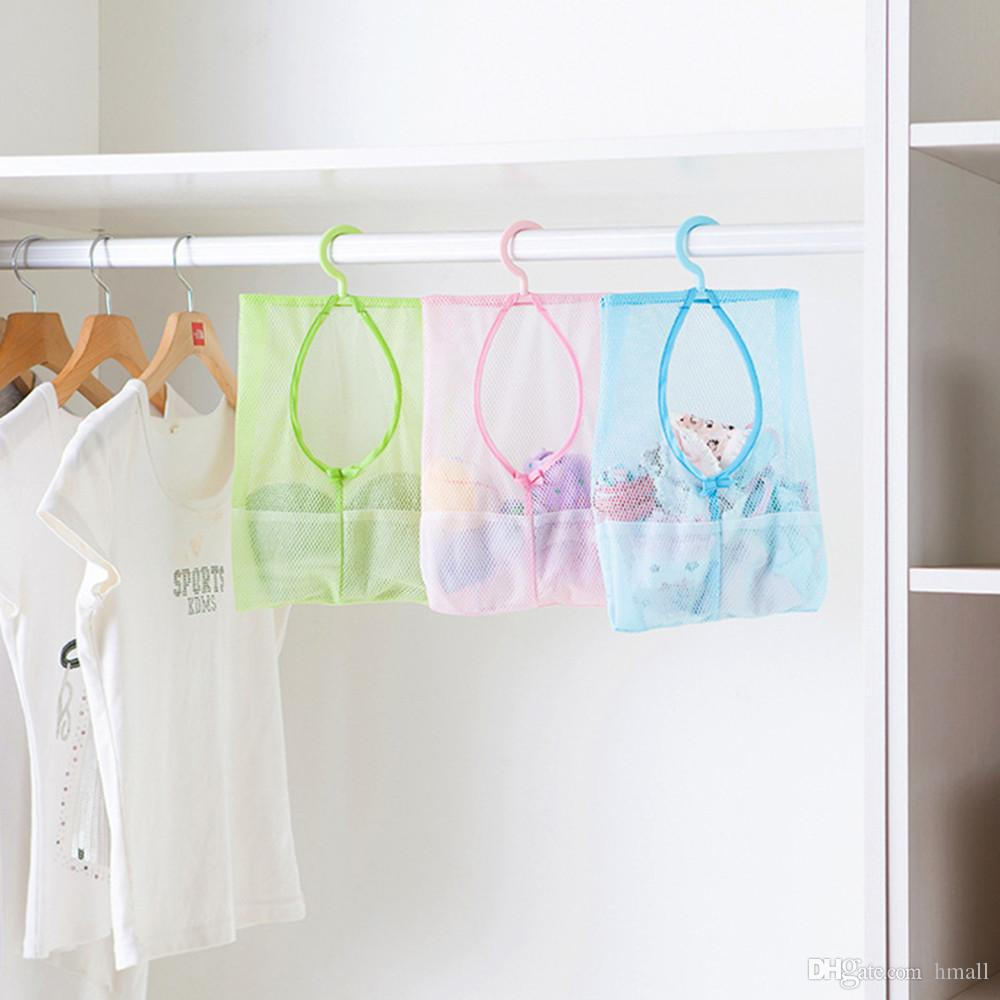 multi purpose hang mesh bag clothes storage laundry bags travel colorful hanging mesh bags bathroom shower storage organizer robe hooks from hmall