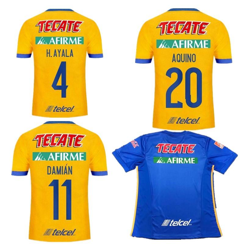 2017 2018 Tigres UANL Soccer Jerseys Thai Quality 17 18 Mexico Club Maillot  De Foot Home Yellow Away 5 Star GIGNAC Football Shirts UK 2019 From ... f0c2c872ab97