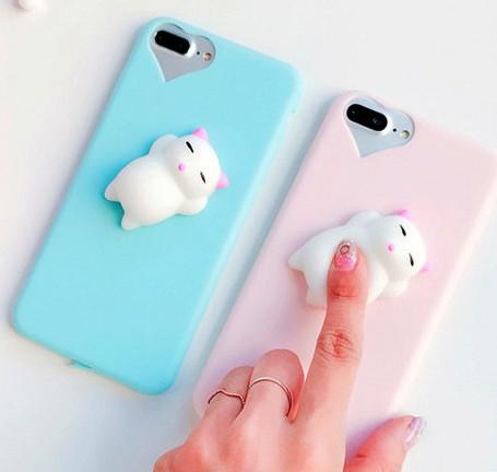 Squishy Mobile Phone Case 3D Cute Sleep Cat Phone Cover For IPhone 6s 6 6  Plus 7 7 Plus 5 5s SE Case Soft Silicone Gel Shell Phone Cases Cell Phone  Cases ... d796dca775