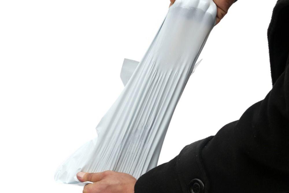 جديد وصول الأبيض أكياس البريد عالية الجودة بولي الذاتي ختم حقيبة بريدية مغلف ساعي البريد البريدي ميلر اكسبريس الشحن حقيبة 17 * 29 سنتيمتر