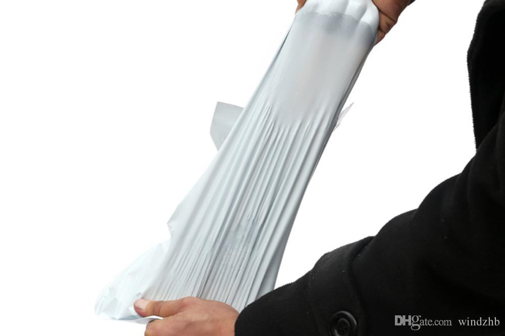 جديد وصول أكياس البريد الأبيض جودة عالية بولي الذاتي ختم البريد mailbag البلاستيك المغلف البريد البريد البريد الإلكتروني mailer صريحة حقيبة الشحن 17 * 29CM