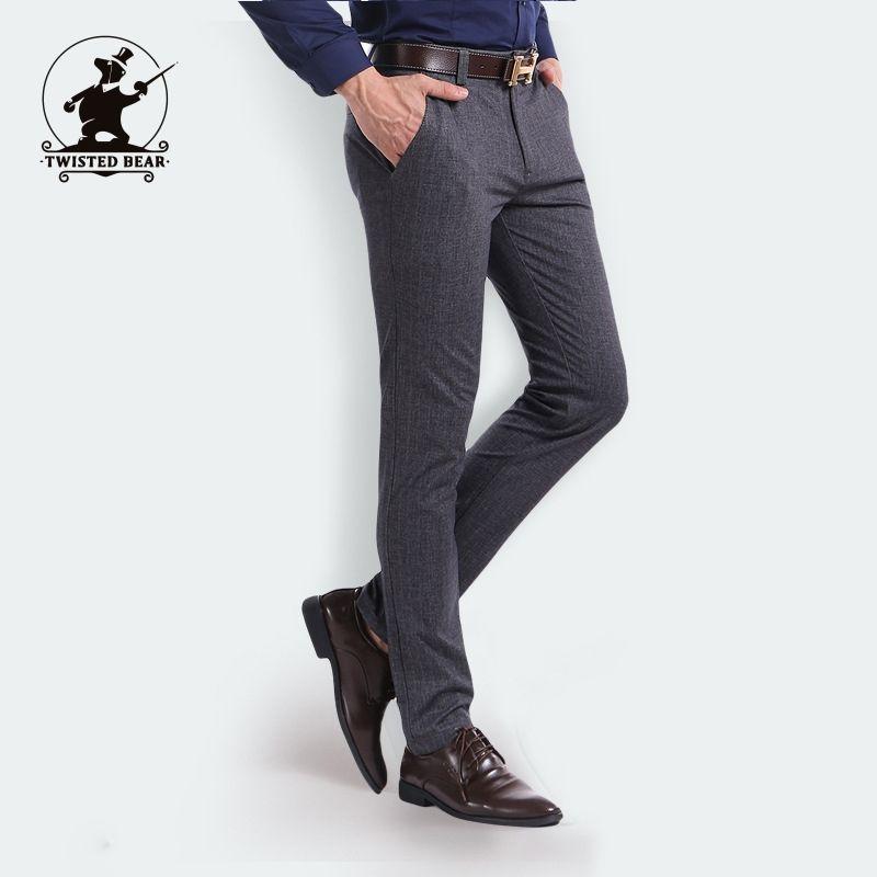432793b785e 2019 Wholesale New Mens Business Casual Pants Designer Fashion Stretch  Chino Pants For Men Dress Pants Plus Size Pantalon Home C3E3 From Dalivid