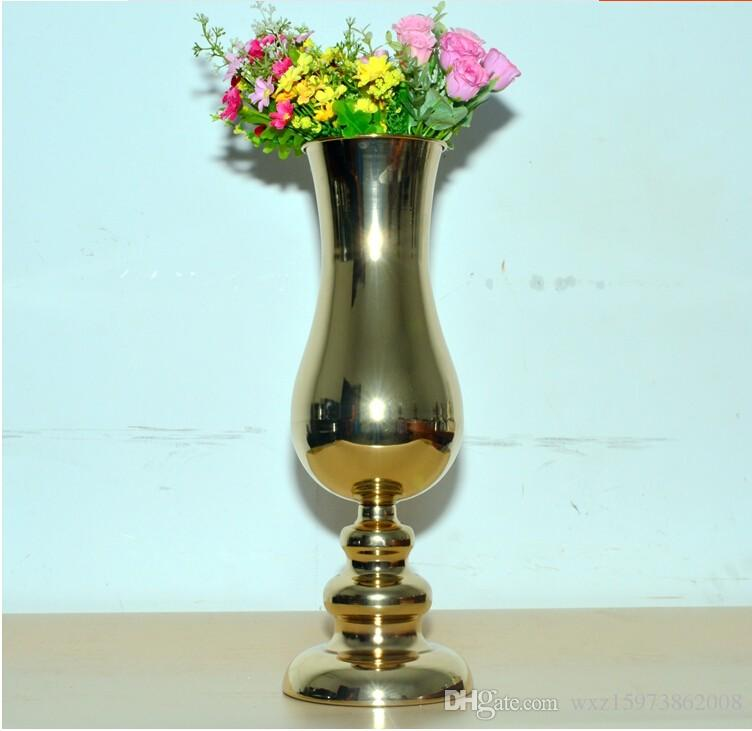 h455cm european gold plated large floor vases wedding decoration vase terrarium decor for birthday party decor for parties from