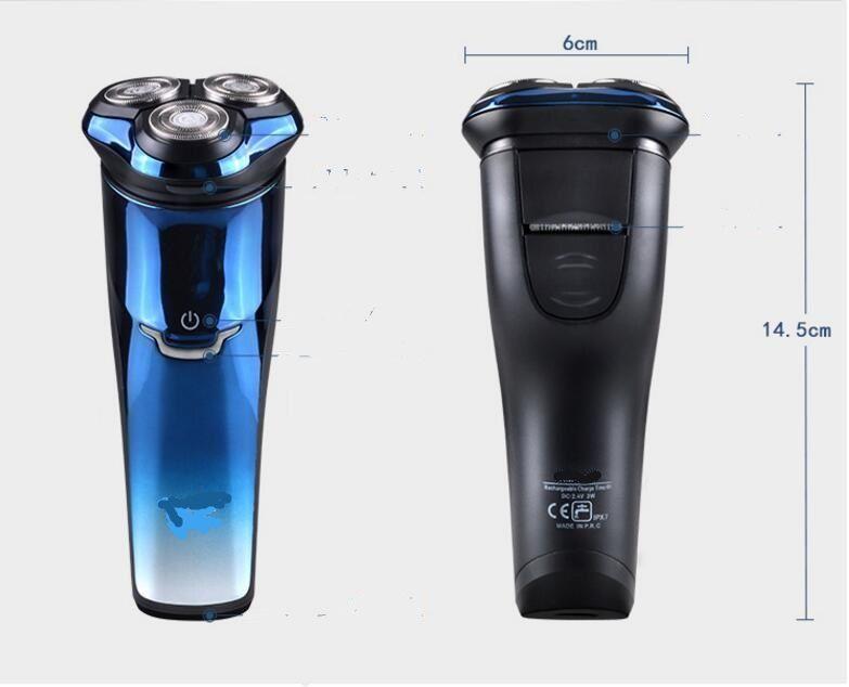 220v Electric Shaver For Men Razor Beard Trimmer Razor Rechargeable Floating 3D Beard Shave Razors Waterproof sideburns clipper cutter