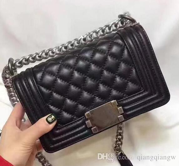 High Quality Mini Le Boy Quilted Chain Bag Genuine Lambskin Leather