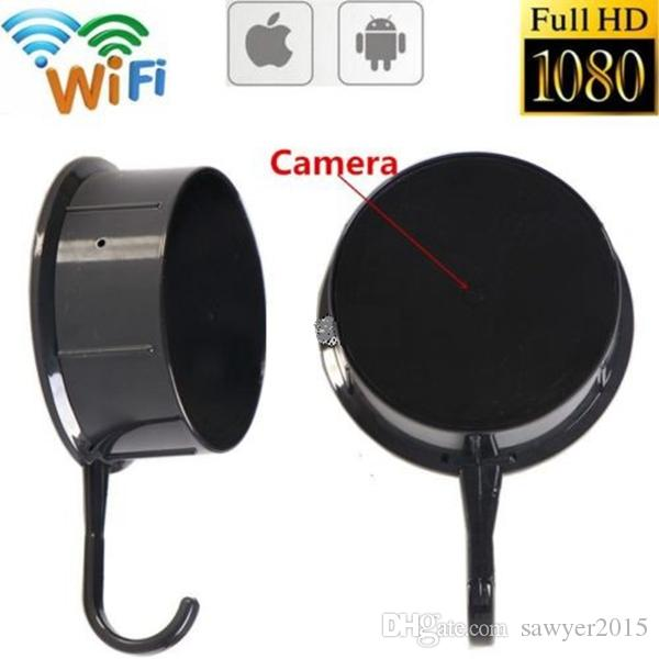 HD 1080P WIFI Wall Hook Pinhole Camera MINI Clothes Hook Video Recorder Nanny Cam Wireless network Camcorder Motion Dection Remote View