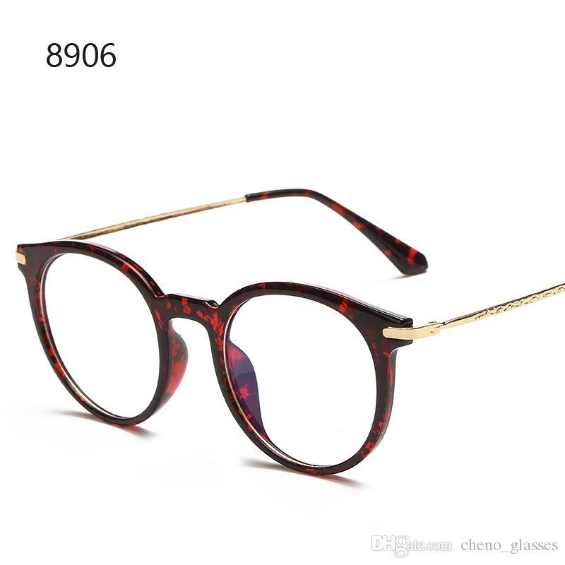 5ed3fd7a8301a Compre Marco De Gafas Ovaladas Vintage Con Lentes Transparentes Marcos  Ópticos Para Lentes Lentes Gafas Para Hombres A  157.37 Del Cheno glasses    DHgate.