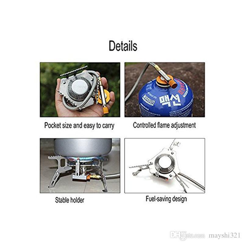 Horno de aire con manguera, horno de aire, quemador de cerámica, butano dividido, estufa de cerámica, butano de cocción, cerámica, butano, plegable, ultraligero, plegable