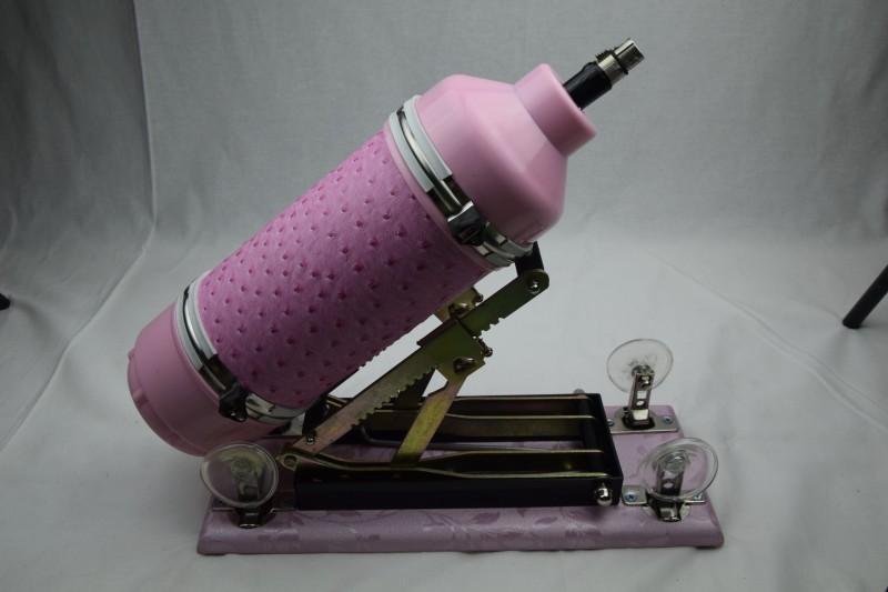 2017 nuovo aggiornato rosa potente macchine automatiche del sesso con dildo, macchina climax, macchina amore, velocità di movimento: 0 - 415 volte / minuto