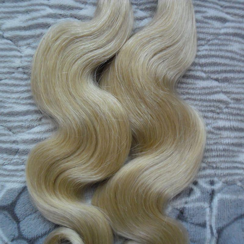 Блондинка человеческих волос кератин 100s кератин наращивание волос u tip extensions 100g body wave pre bonded наращивание человеческих волос