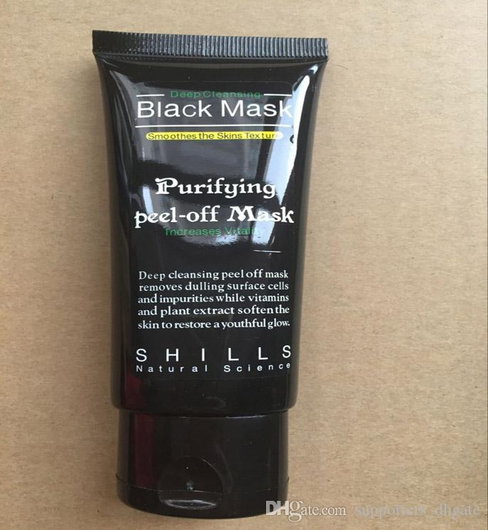 Black mask Suction blackheads removers collagen facial mask 50ml SHILLS Deep Cleansing purifying peel off Black face mask Peel Masks