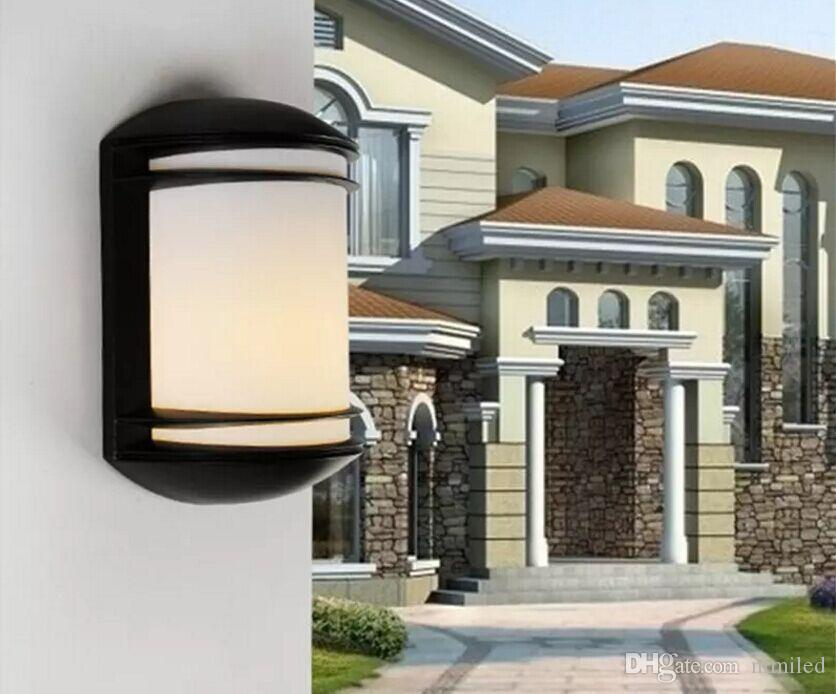 Modern Aluminium Outdoor Low Energy LED Garden Wall Porch Light Lamp,Metal Body+ PC Lampshade Garden Wall Light