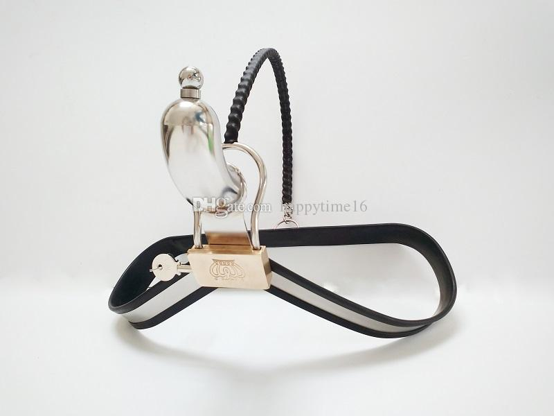 Newest Arrival Design Male Chastity Devices with Cock Cage Stainless Steel Chastity Belt Underwear bdsm Metal Bondage Sex Toys