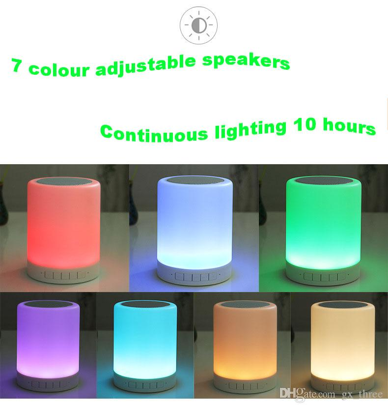 2017 hotsale Mini portable crackle texture Bluetooth Speaker with LED light can insert U disc, mobile phone player with retail box