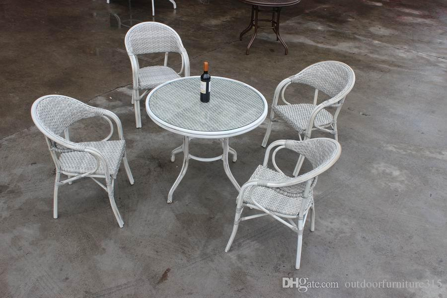 2018 Good Rattan Outdoor Furniture Tea Tables And Chairs Cane Five Piece  Tea Table Garden And Restaurant Furniture Cafe Tables And Chairs Suite From  ...