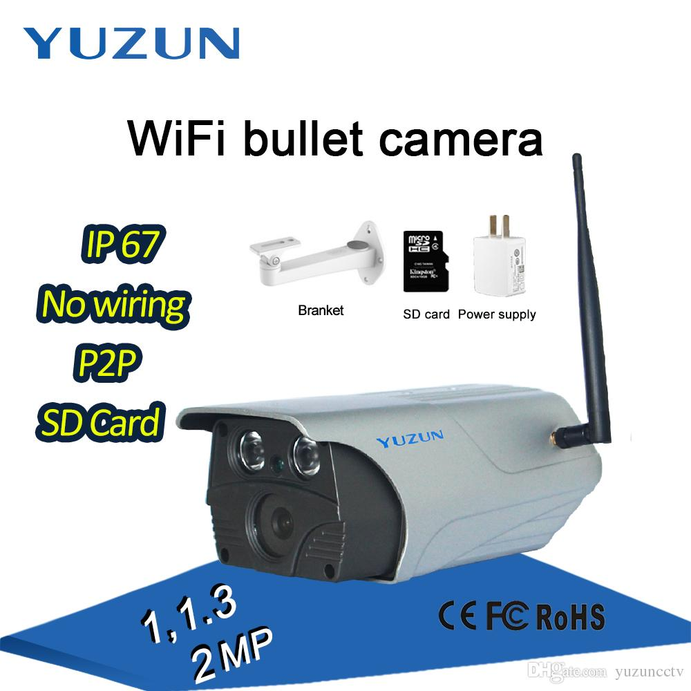 P2P IP67 waterproofing rainproof night vision access point wifi wireless metal bullet cctv monitor ip outdoor security camera with bracket