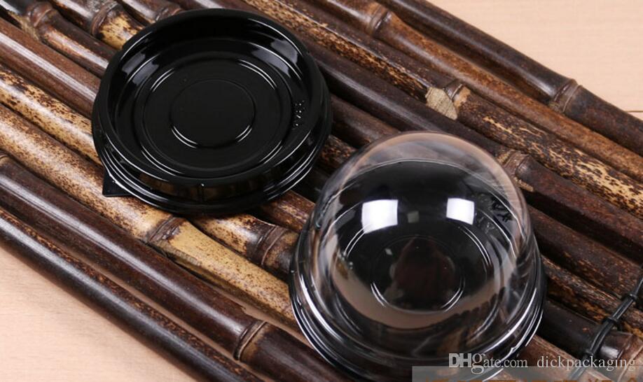 Scatola rotonda di imballaggio della torta rotonda di alta qualità della spedizione libera chiara scatola rettangolare della torta scatole di plastica trasparenti del bigné che imballano