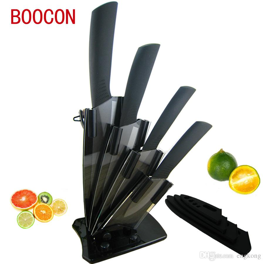 Boocon Brand Black Zirconia Ceramic Knife Set Kitchen Knives ...