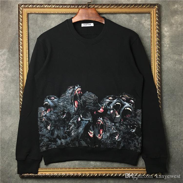 2019 мода осень мода одежда мужские свитера высокого качества обезьяна перемычка бабуин напечатаны мужчины спорт дизайнер толстовки топы