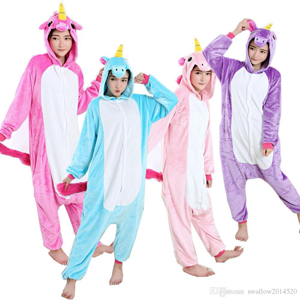 caa65ffa8c46 Nico the Unicorn Adult Pink Blue Unicorn Onesie Costume Women Men ...