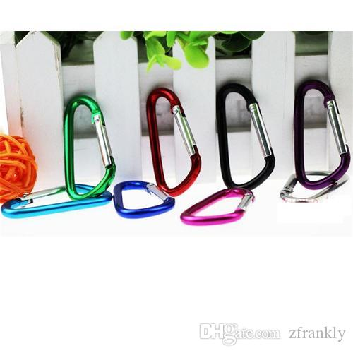 Wholesale-Carabiner Ring Keyrings Key Chain Outdoor Sports Camping Snap Clip Hook Keychain Hiking Aluminum Metal Hike