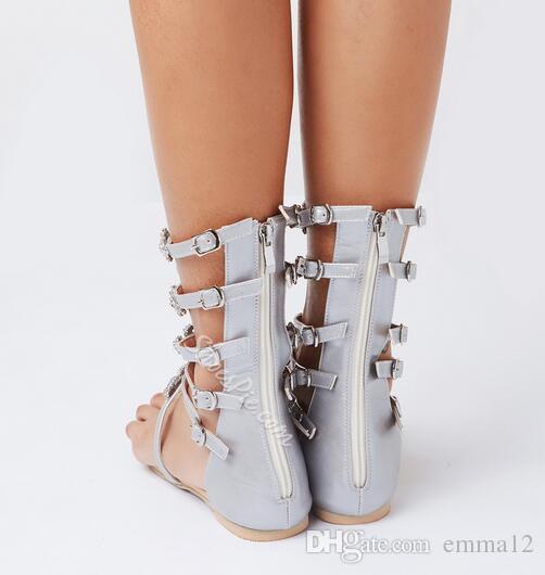 Sandalo donna cristallo 2017 moda estate donna scarpe infradito sandali strass sandali gladiatore scarpe da donna plus size 43