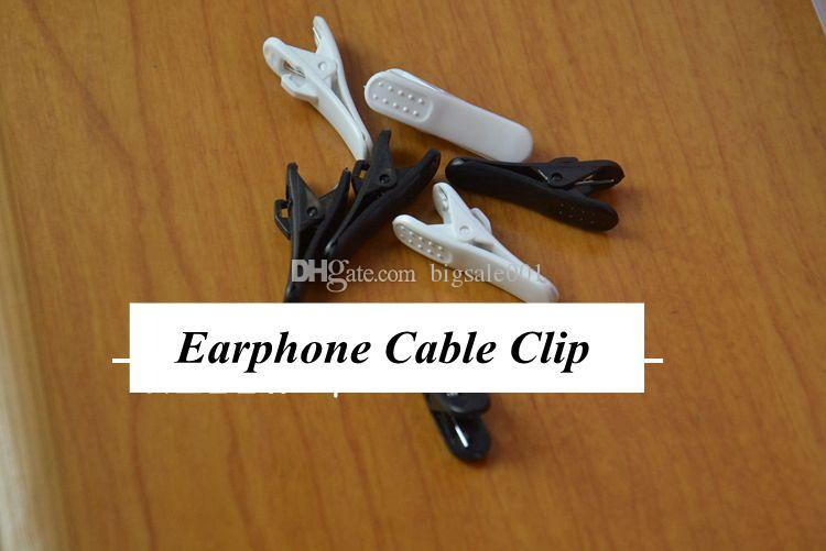 duck Headphone Headset Earphones Cell Phone Cable Cord Wire Clip Nip Clamp Holder black white new