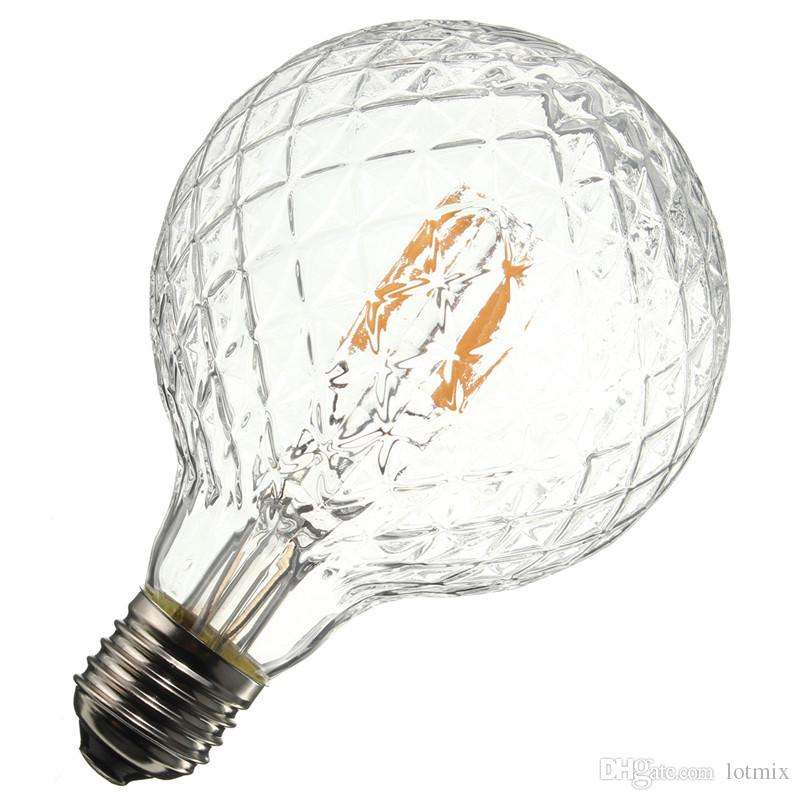 E27 4W Pineapple Ultra Bright COB LED Vintage Antique Edison Filament Bulb Light Lamp Warm White 500Lumen Non Dimmable AC85-265V