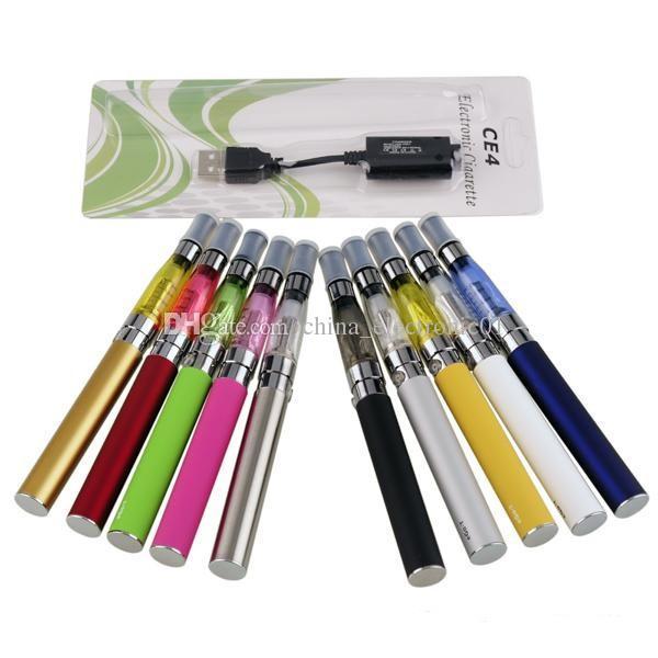 CE4 eGo-T blister pack kit - electronic cigarettes kit CE4 vaporizer 650 900 1100mah ego-t ecig batteries kits dhl free