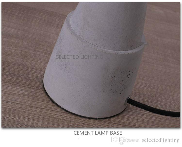 Retro Industrial Table Light Elegant Grey Cement Lamp Bedside Table Lamp for Bedroom Desk lamp Office Lighting D.25 x H.38cm