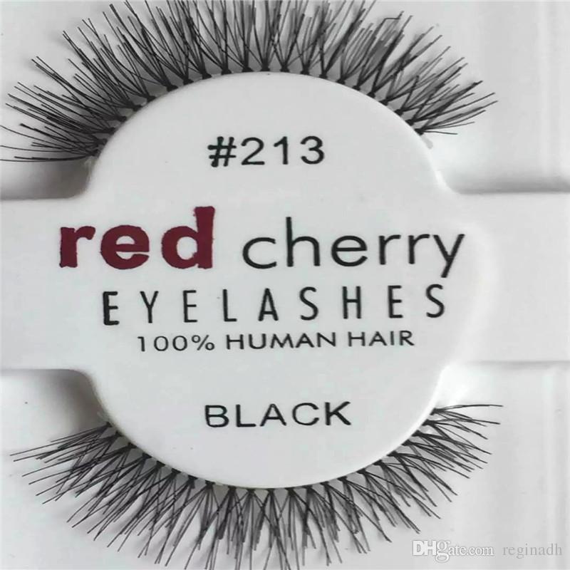 d8a9f1638db RED CHERRY False Eyelashes Natural Long Eye Lashes Extension Makeup  Professional Faux Eyelash Winged Fake Lashes Wispies 213# Eyelashes  Extension Eyelashes ...