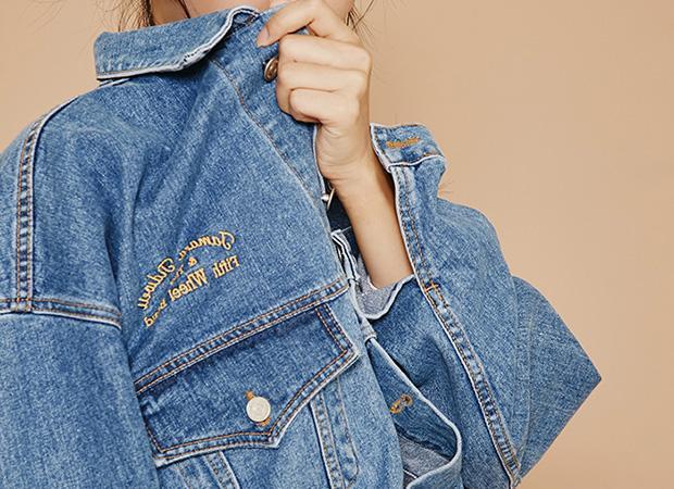 2017 Frühling weibliche Jean Jacke lässig dekoriert Denim Jacke Kleidung Stickerei übergroßen Frauen Jacke Mantel