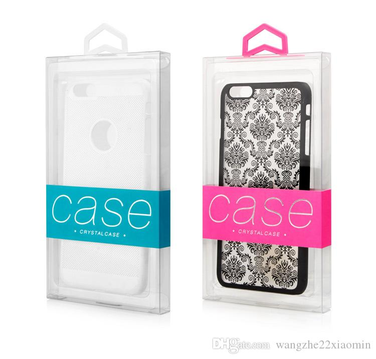 다채로운 옷걸이 사용자 정의 회사 로고 삼성 s8 플러스 휴대 전화 케이스 커버에 대 한 내구성이 투명 한 PVC 투명 한 포장 상자 내부 트레이