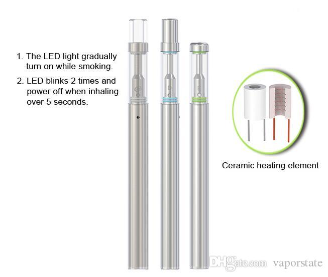China New product disposable e-cigarette empty glass tank 0.5ml BUD D1 smok pen metal tip 310Amh battery wholesale