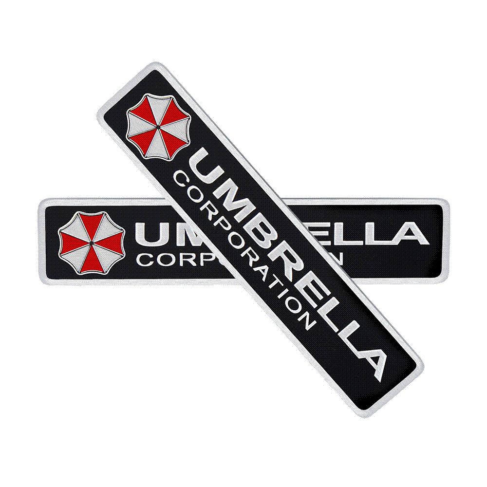 2019 3d stickers aluminum umbrella corporation car sticker and decals 2 types car styling 3d car decor for bmw audi vw ford stickers from mymother010