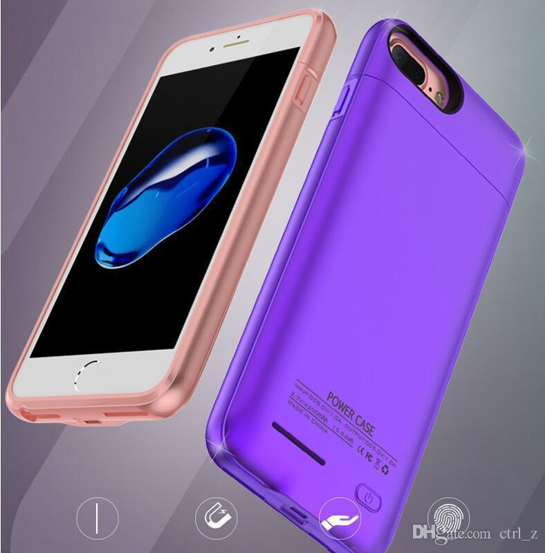 Ladekoffer für iPhone X XS MAX XR 6s 7 8 plus integrierter Magnet Ultradünner, kabelloser Ladekoffer Externe Batteriebank