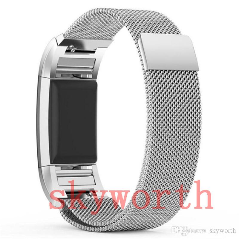 d15094193e46 Magnetic Milanese Loop Metal For Fitbit Charge 2 3 Alta HR Blaze Wristband  Stainless Steel Watch Band Bracelet Mesh Strap Replacement Watches With  Leather ...