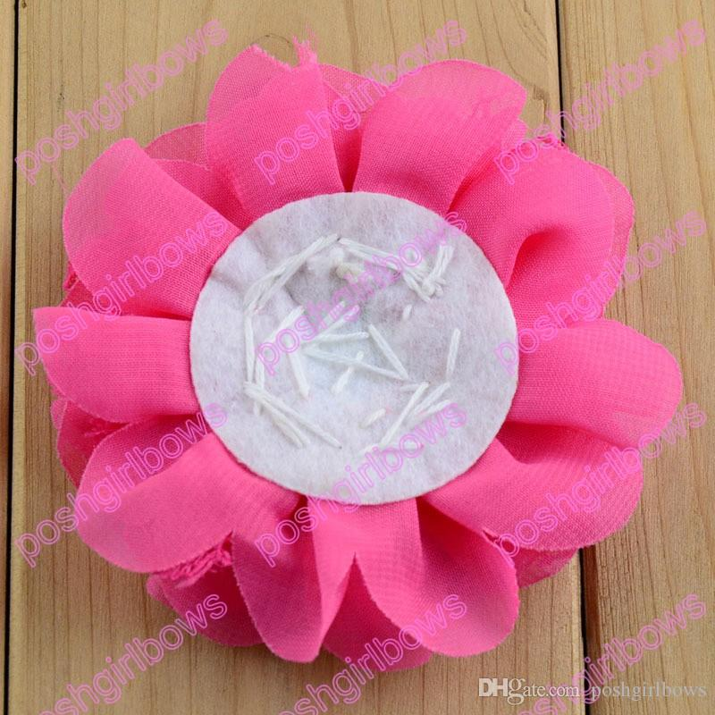 silk flower hair clips sew flower clips with clips peal hair accessories baby hair bows