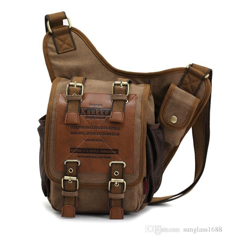 100% Brand New Hight Quality Mens Boys Vintage Canvas Shoulder Military Messenger Bag Sling School Bags Free Shipping