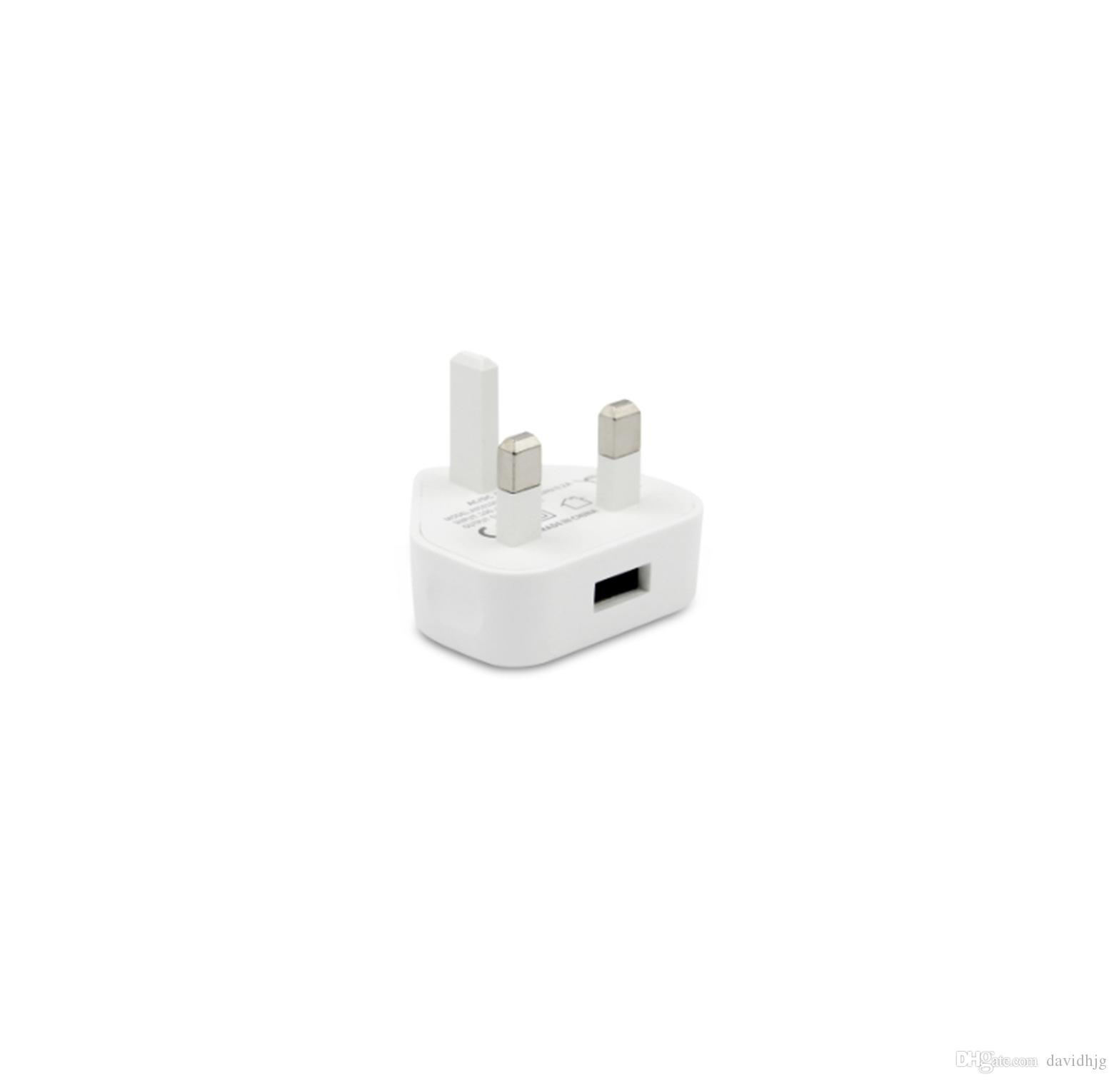 COLORIDO USB Cargador de pared Adaptador de corriente alterna de pared Cargador Reino Unido 3 pines Enchufe para teléfono móvil / MP4 / mp3 Para Iphone 3G JBD-UK